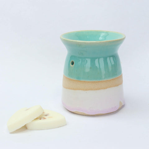 Handmade Oil Burner Turquoise and Pink Glaze