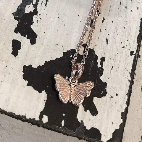 Butterfly Rose Gold Pendant - insideout-home