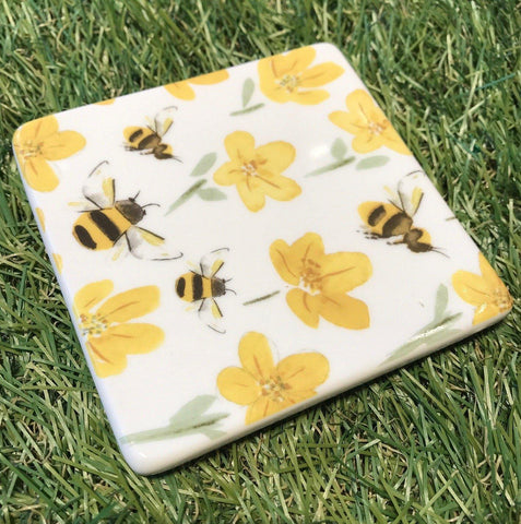 Buttercup Bee Coaster insideout-home.myshopify.com
