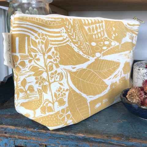 Through The Fields Ochre Washbag - insideout-home