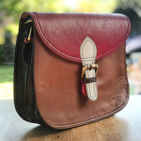 Soruka Upcycled Leather Bag Dark Tan - insideout-home