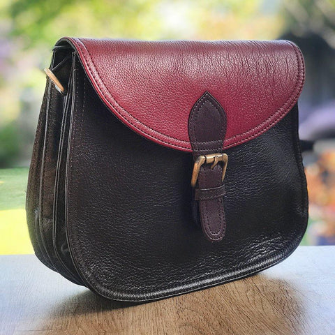 Soruka Upcycled Leather Bag Dark Chocolate - insideout-home