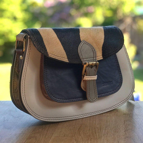 Soruka Upcycled Leather Bag Blue - insideout-home