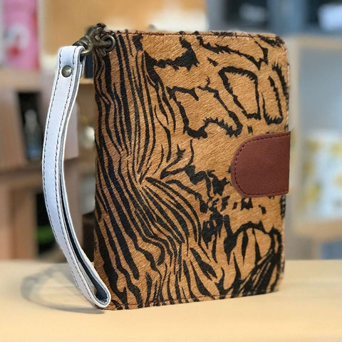 Soruka Upcycled Leather Wallet Tiger - insideout-home