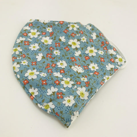 Face Mask Floral Blue - insideout-home