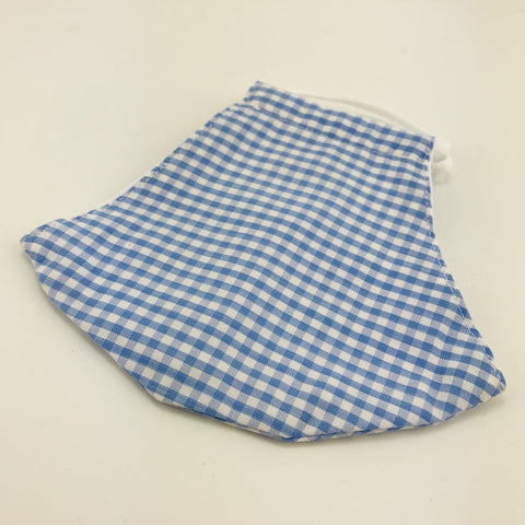 Face Mask Gingham Blue Check - insideout-home