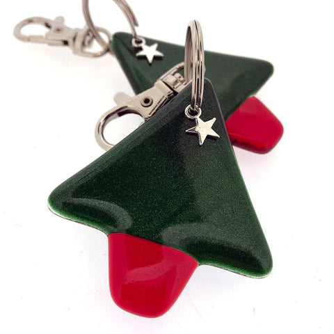 Adventurine Xmas Tree Keyring - insideout-home