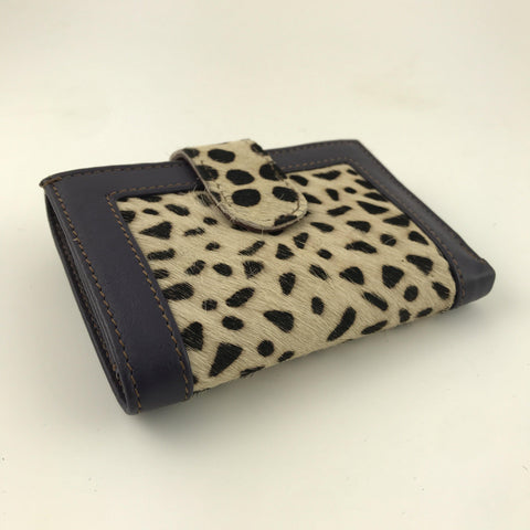 Soruka Upcycled Leather Wallet Faux Animal Print - insideout-home