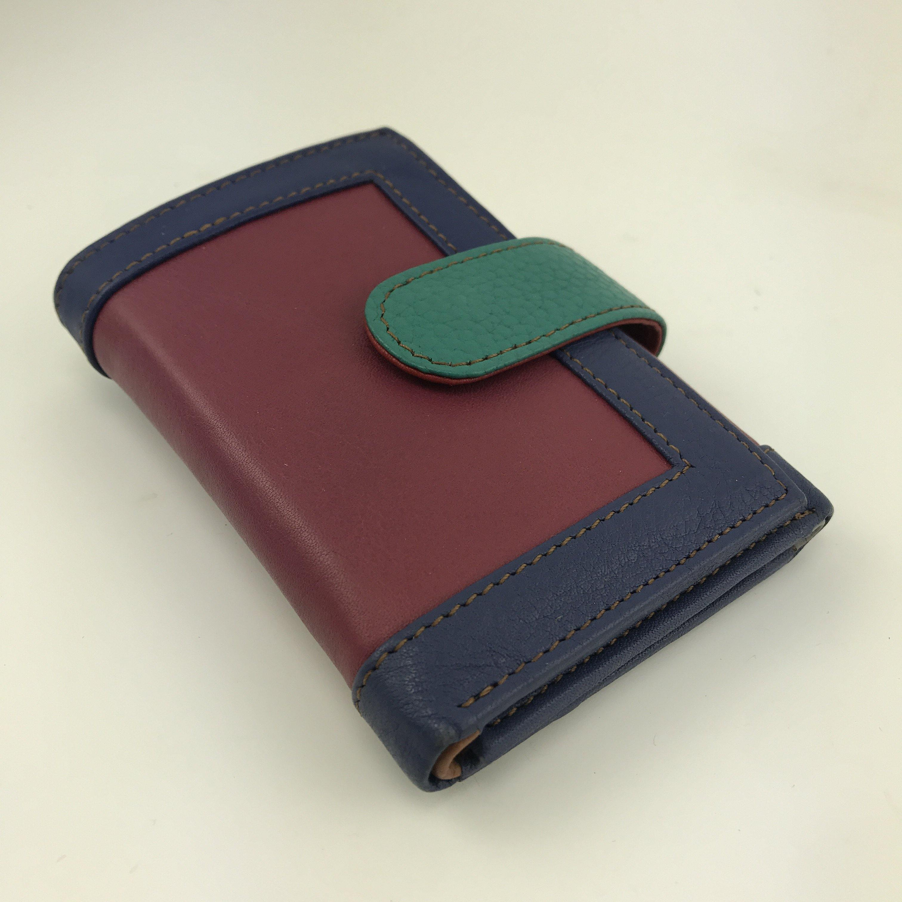 Soruka Upcycled Colourful Leather Wallet by  Insideout