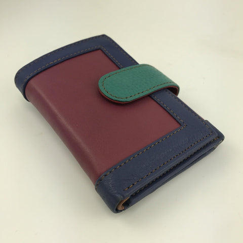 Soruka Upcycled Colourful Leather Wallet - insideout-home