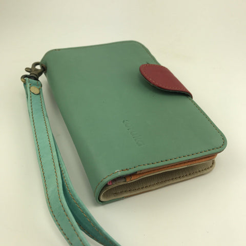 Soruka Upcycled Leather Wallet Olive Green