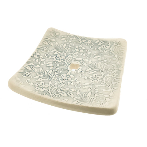 Square Soap Dish - Blue Floral - insideout-home