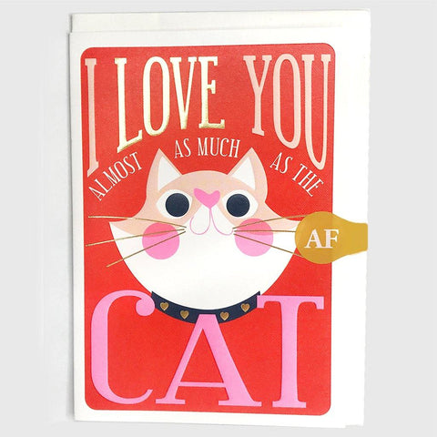 I Love You Cat Card - insideout-home