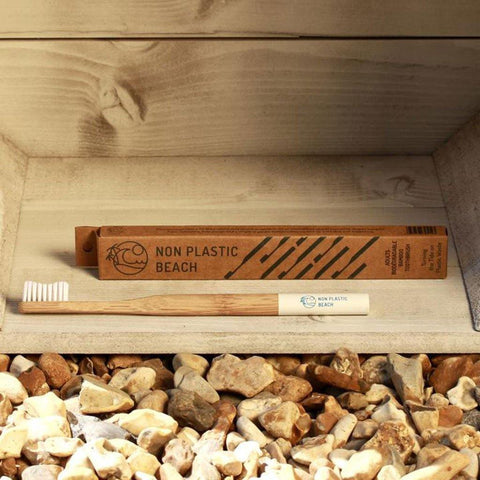 Artic White Biodegradable Bamboo Toothbrush Adult - insideout-home