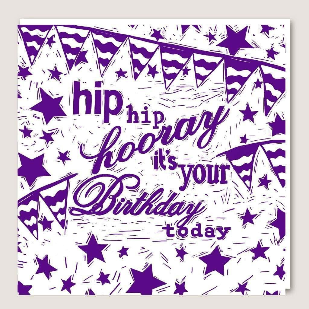 ACUW01 Hip Hip Hooray Card by  Insideout