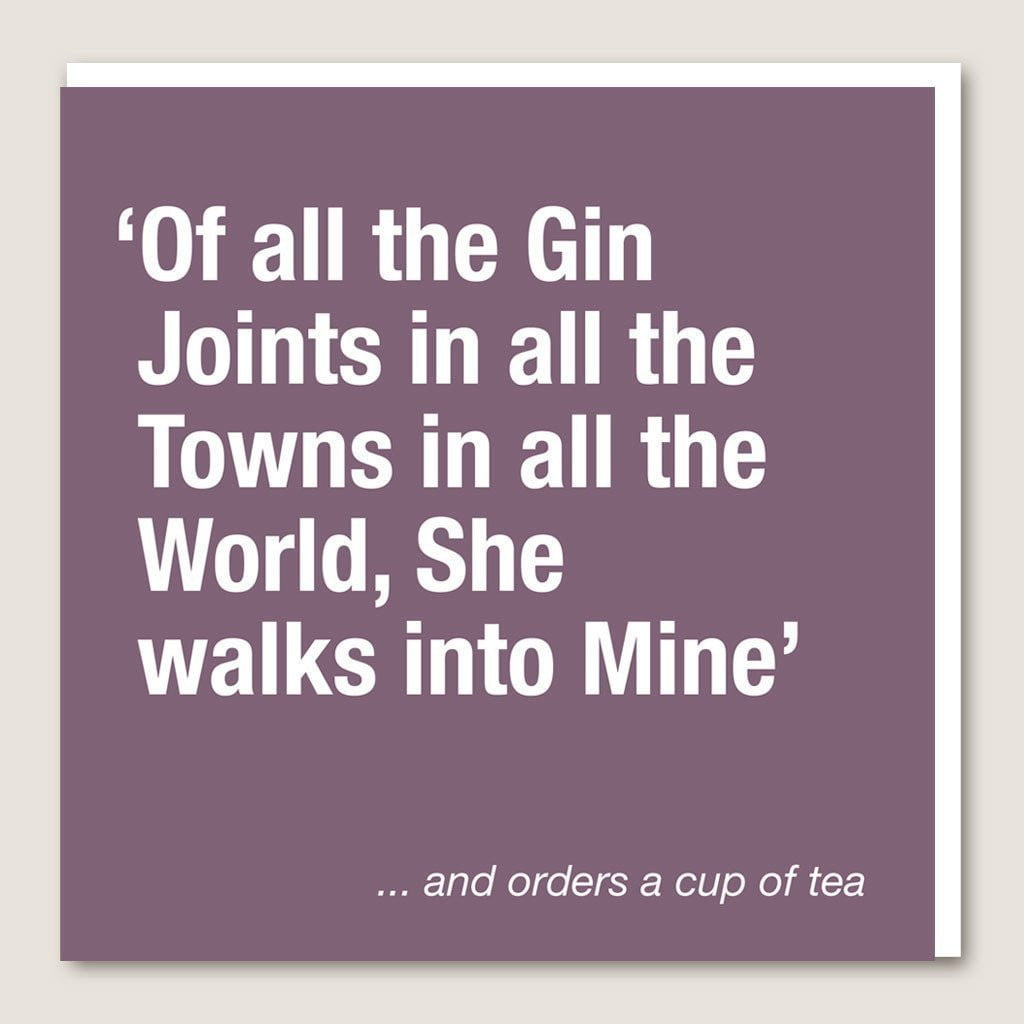 IT02 Gin Joints Card by Insideout