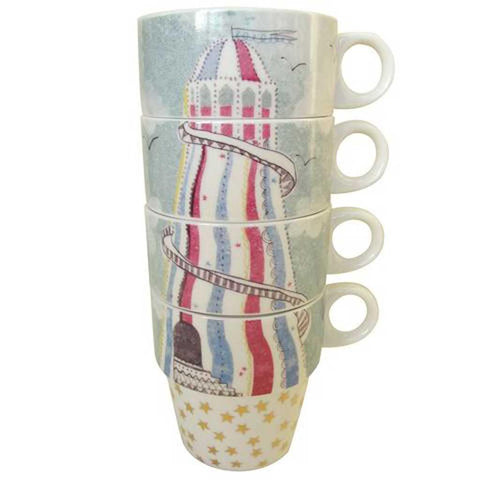 Ink Press Cup Stack - Helter Skelter - insideout-home