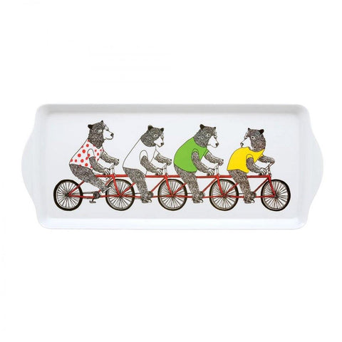 Jimbobart Bears On A Bike Sandwich Tray - insideout-home