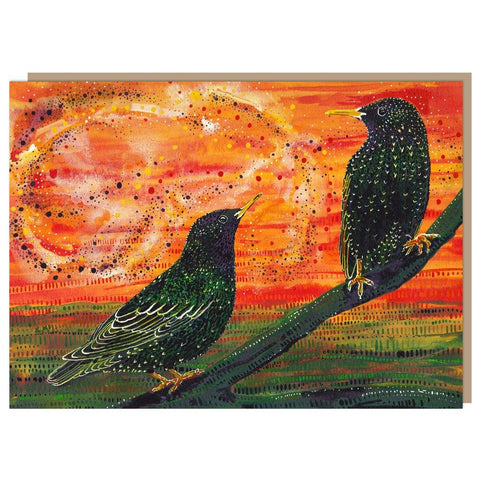 Starlings at Dusk Card - insideout-home