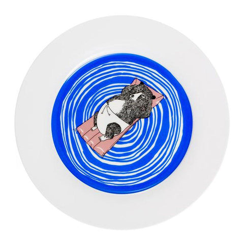 Bear Swims Dinner Plate - insideout-home