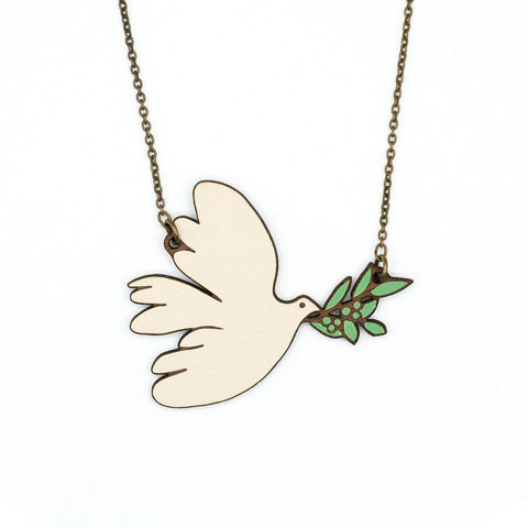 White Dove Necklace - insideout-home