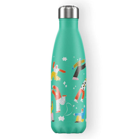 Chilly's Artist Series Lets Groove Green By Tess Smith-Roberts 500ml - insideout-home