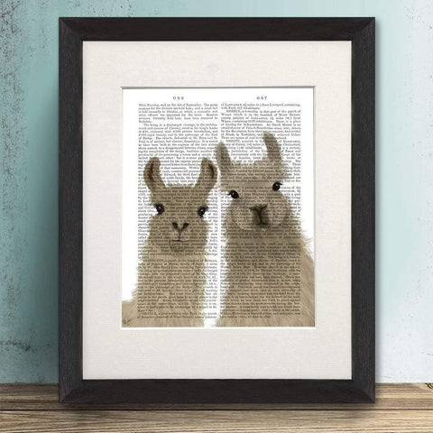 Llama Duo Looking At You Print - insideout-home