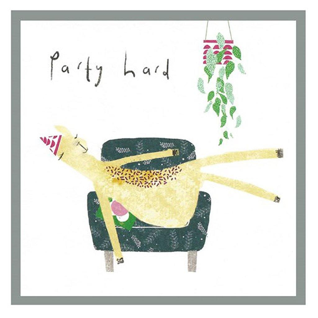 Party Hard Llama Card by  Insideout