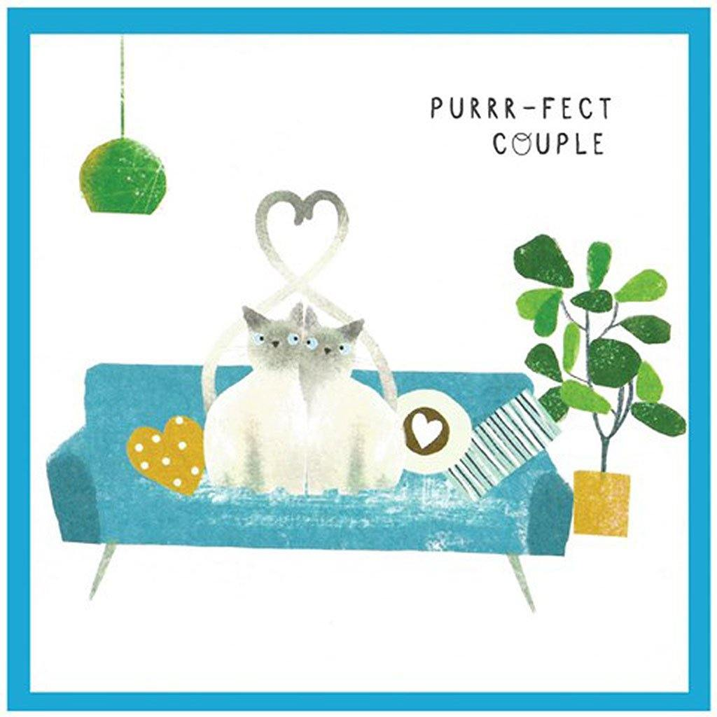 Purrr-fect Cat Couple Card, Greeting & Note Cards by Insideout