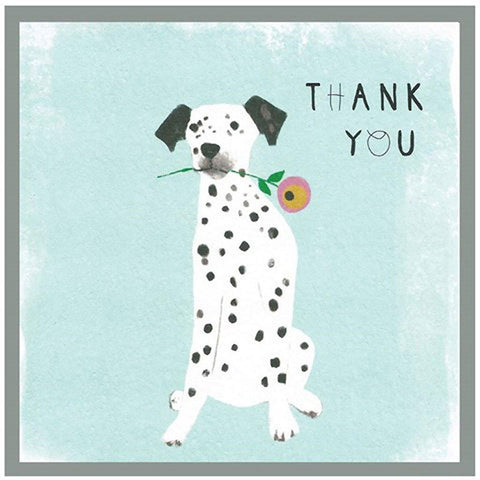 Thank You Dalmation Card - insideout-home