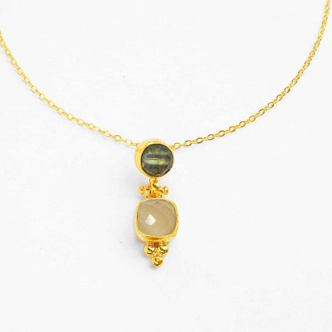 Labradorite & White Chalcedony Necklace - insideout-home