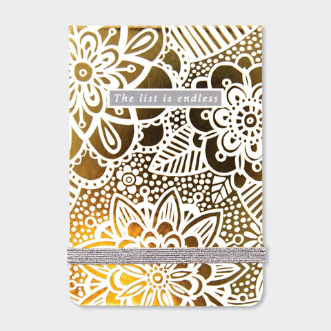 A7 Mini Notepads - Lustre Gold Floral - insideout-home