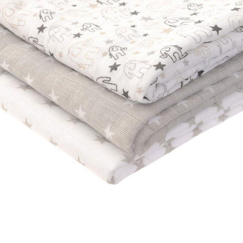 Grey White Muslin Square - insideout-home