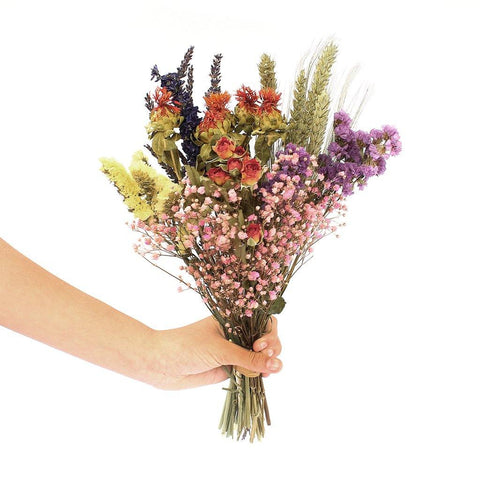 Dried Wildflower Multicoloured Small Bouquet - insideout-home