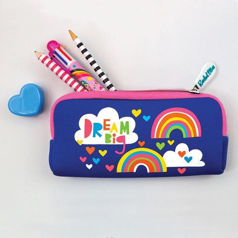 Neoprene Pencil Case - Dream Big/Rainbows - insideout-home