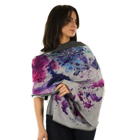 Luxury Watercolour Wrap Indigo - insideout-home