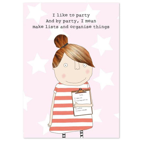 I Like To Party Notepad - insideout-home