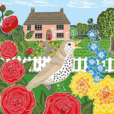 Thrush & Cottage Card - insideout-home