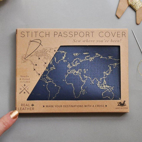 Navy Passport Cover - insideout-home