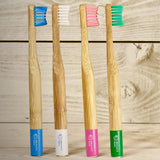 Pantai Merah Pink Biodegradable Bamboo Toothbrush Kids - insideout-home