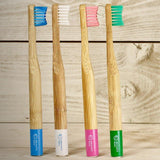 Artic White Biodegradable Bamboo Toothbrush Kids - insideout-home