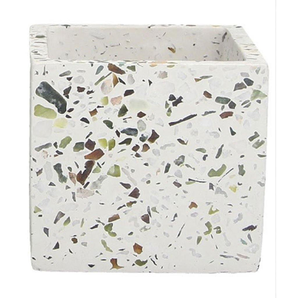 Terrazo Stone Pot Cover Large by  Insideout