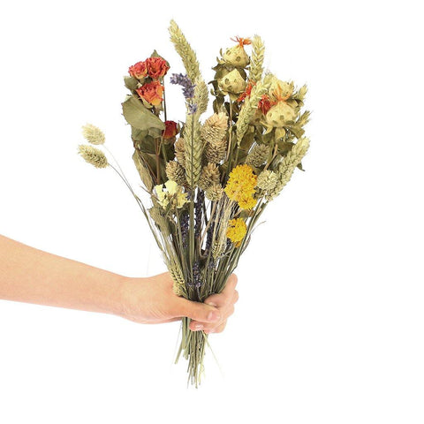 Dried Wildflower Orange Small Bouquet - insideout-home
