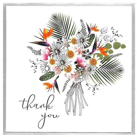 Thank You Bouquet Card - insideout-home