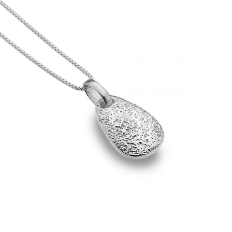 Textured Pebble Sterling Silver Necklace - insideout-home