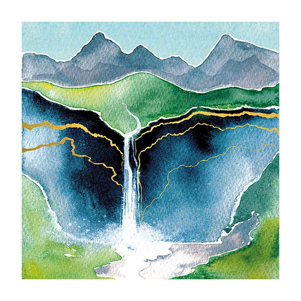 Waterfall & Mountains Card, Art & Craft Paper by Insideout