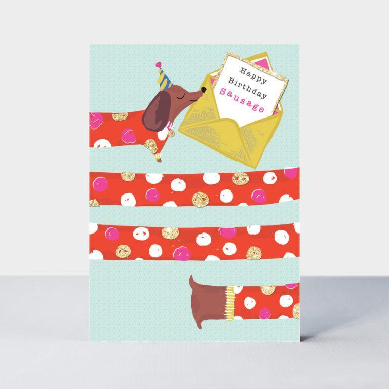 Happy Birthday Sausage Card, Gift Giving by Insideout