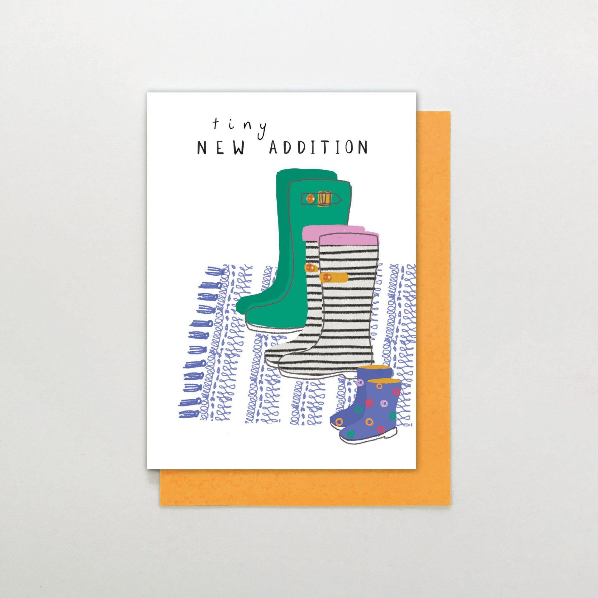 New Addition Boy Wellies Card by  Insideout