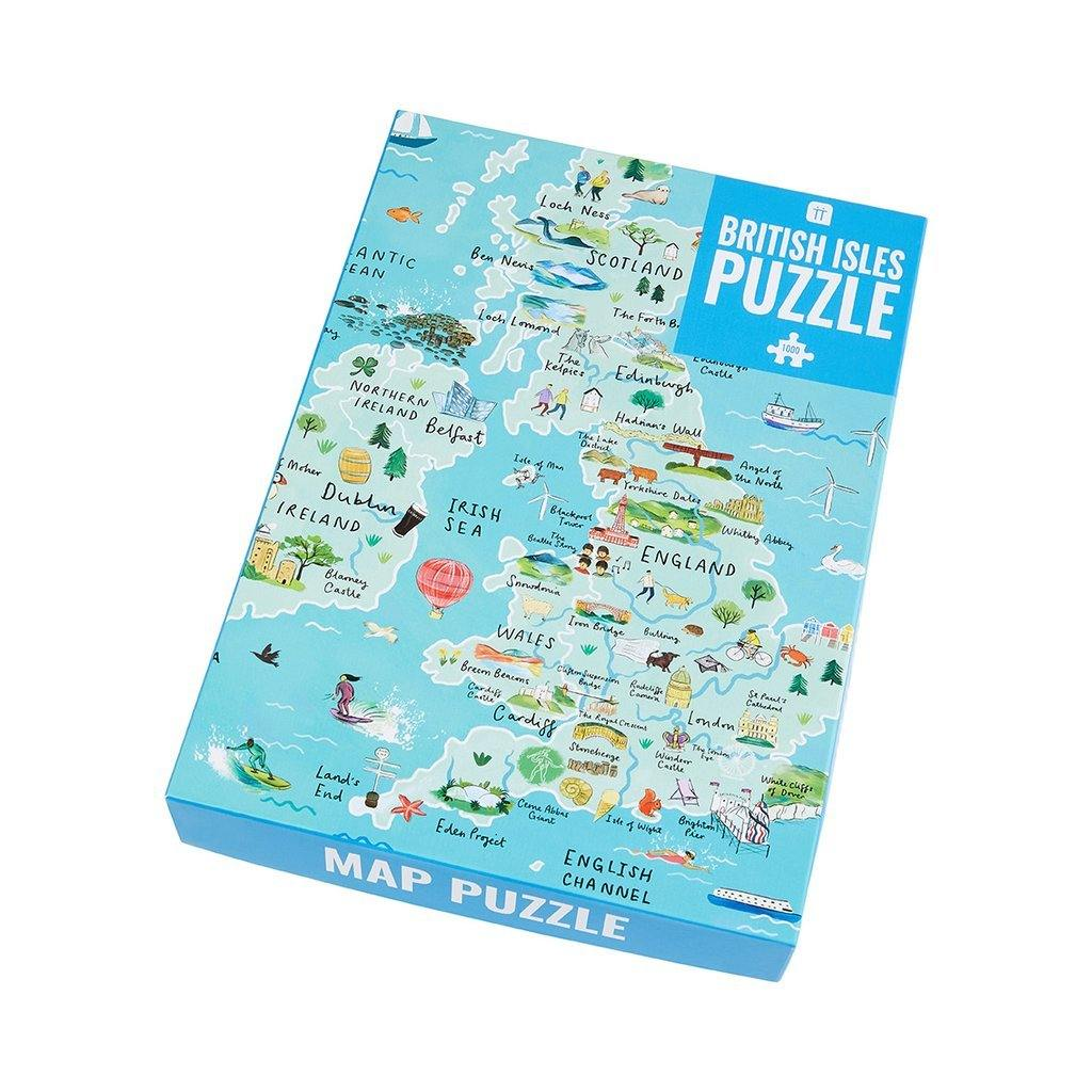 Pick Me Up UK Map Jigsaw Puzzle 1000 Piece, Toys & Games by Insideout