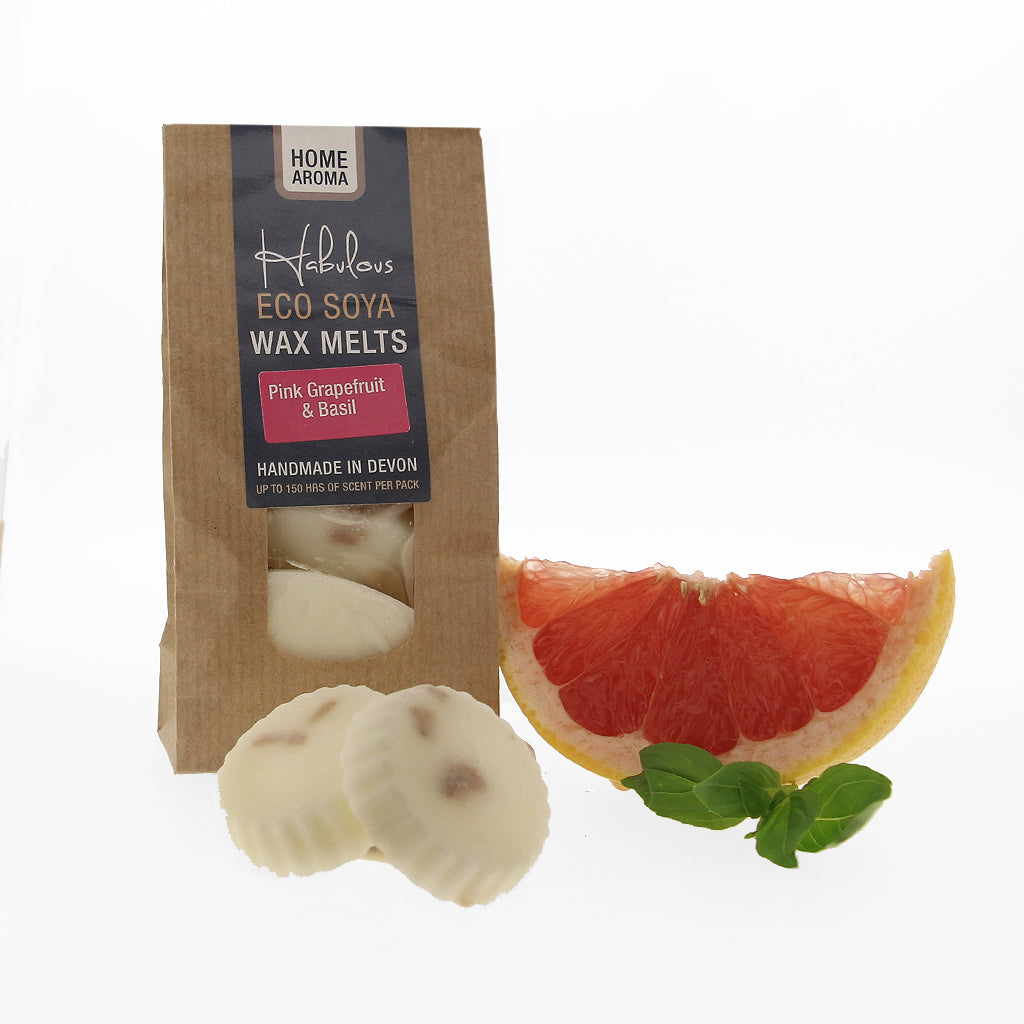 Pink Grapefruit & Basil Eco Soya Wax Melts Pack, Raw Candle Wax by Insideout